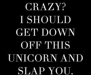crazy, unicorn, and funny image
