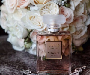 chanel, perfume, and roses image