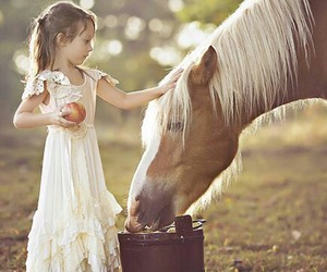 child and horse image