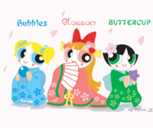 blossom, bubbles, and buttercup image