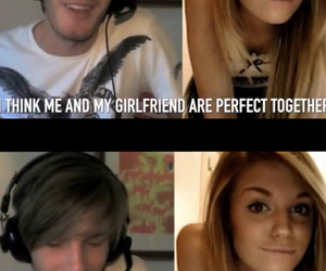 couple, youtube, and pewdiepie image