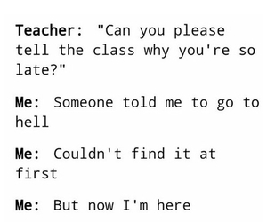 funny, hell, and teacher image