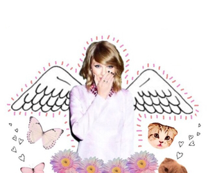 angel, cat, and overlay image