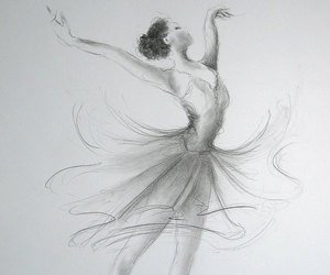art, ballet, and drawings image