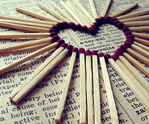 love, heart, and match image