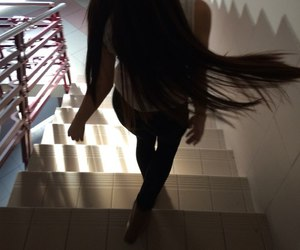girl, hair, and long image