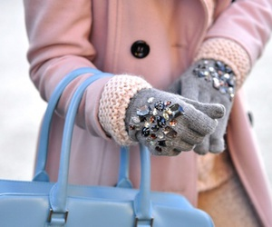 fashion, gloves, and pink image