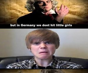 Beethoven, justin bieber, and erb image