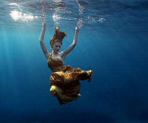 girl, photography, and underwater image