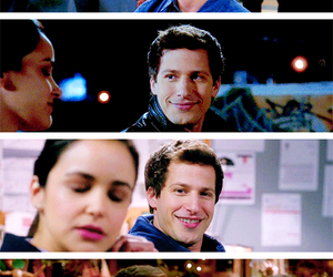 quotes, the way he looks at her, and brooklyn nine nine image