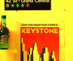 bottle, subway, and grand central image