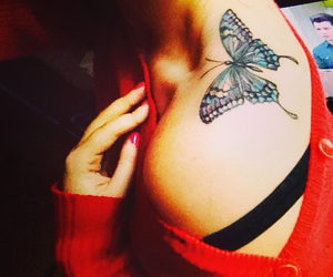 butterfly, small, and tattoed image