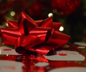 christmas, red, and gift image