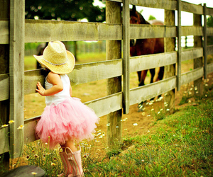 horse, pink, and child image