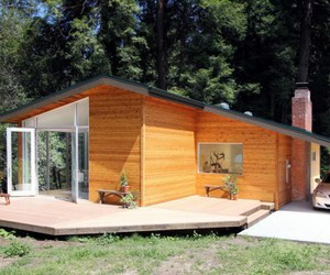 modern cabin decor, modern log cabin decor, and modern cabin furniture image