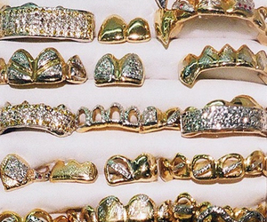gold, grill, and diamond image