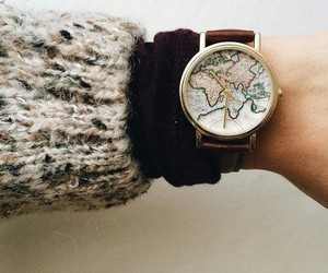 clock, sweater, and watch image