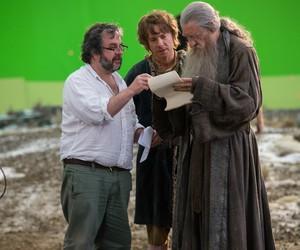 ian mckellen, Martin Freeman, and the hobbit image
