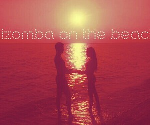 beach, couple, and dance image