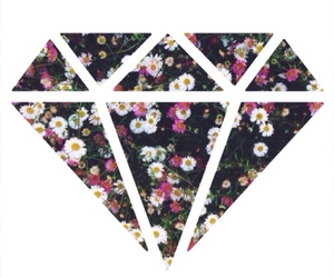 diamond, flowers, and background image