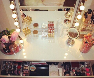 cosmetics, room, and girly image