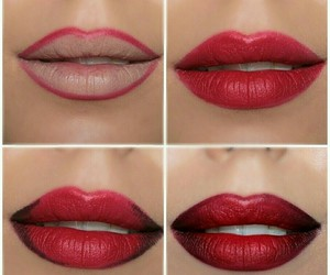 lips, beauty, and red image