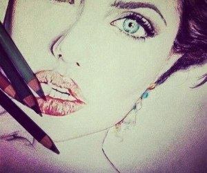 art, drawing, and Angelina Jolie image