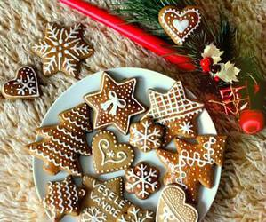 christmas, snow, and biscuits image