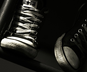 all star, black and white, and swag image