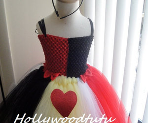alice in wonderland and queen of hearts costumes image