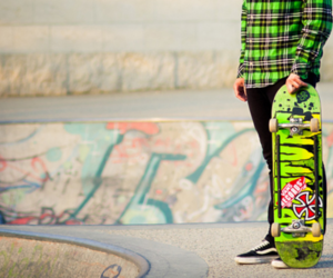 skate, boy, and green image