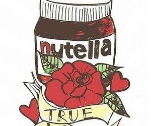 nutella, true love, and chocolate image