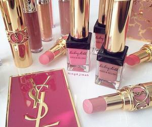 YSL, pink, and lipstick image