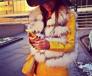 hat, yellow, and style image