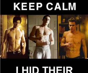 the vampire diaries, keep calm, and sexy image