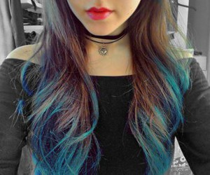 fashion, hair, and blue image