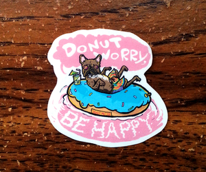 dog, cute, and donut image