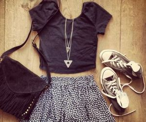 clothes, converse, and grey image