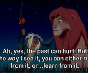 disney, past, and quote image