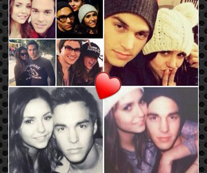 Collage, couple, and Nina Dobrev image