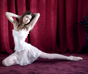 ballerina, ballet, and tights image