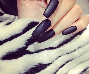 nails, black, and girly image