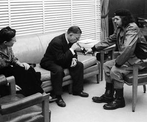 Che Guevara, jean paul sartre, and simone de beauvoir image