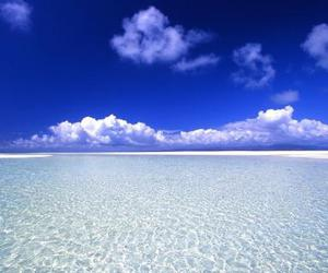 beaches, blue, and clouds image