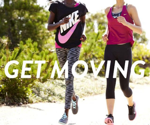 fitness, nike, and fit image