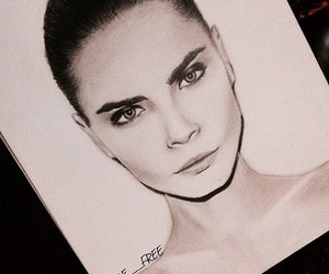 cara delevingne and drawing image