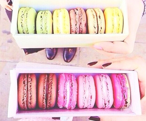 food, macarons, and macaroons image