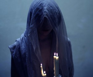 candle, dark, and fantasy image