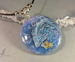 blue, dragon, and jewelry image