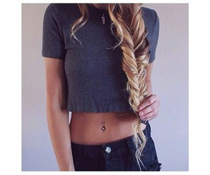beauty, fishtail, and hair braid image